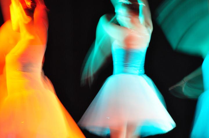 kolorowe tańczące baletnice