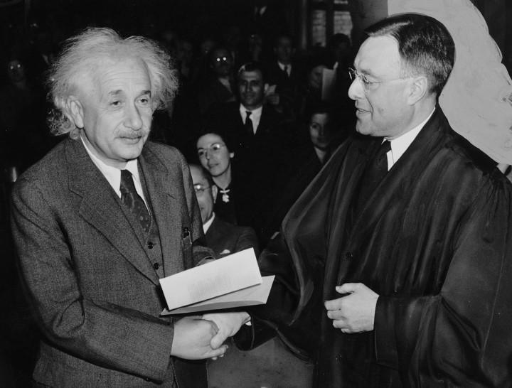 Albert Einstein spotkanie fizyków
