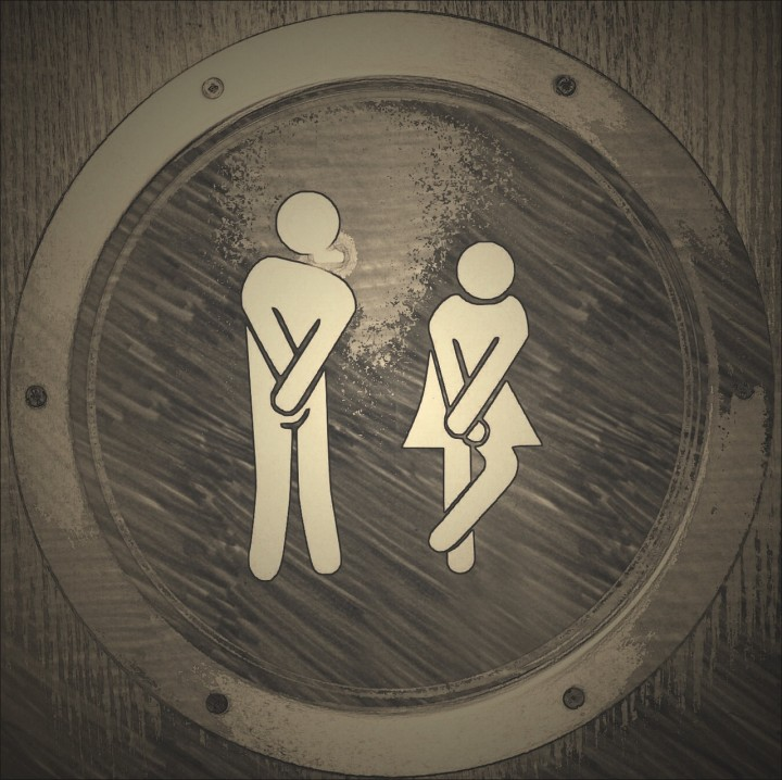 kobieta i męzczyzna- znak na toalecie