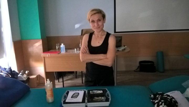 Magdalena Rusiecka-serwatka na szkoleniku z uroginekologii