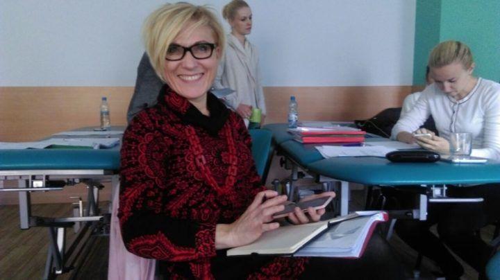 Magdalena Rusiecka-Serwatka na kursie uroginekologii Kraków