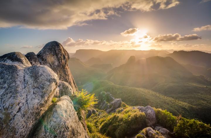 poranek w wysokich górach