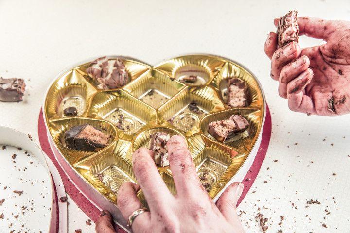 puste pudełko czekoladek
