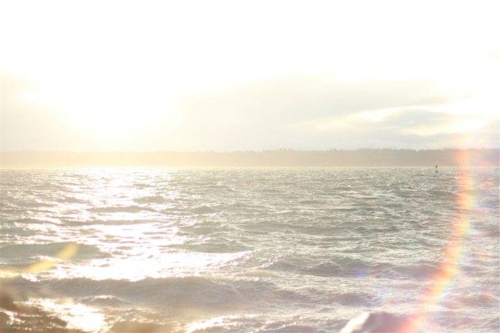 słońce nad taflą wody