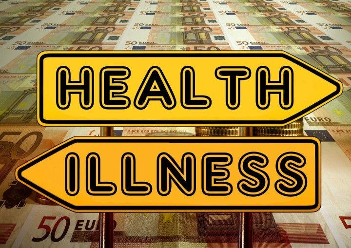 pieniadze, banknoty na stole , kierunkowskazy : zdrowie i choroba