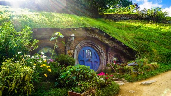 kolorowy domek Hobbitów