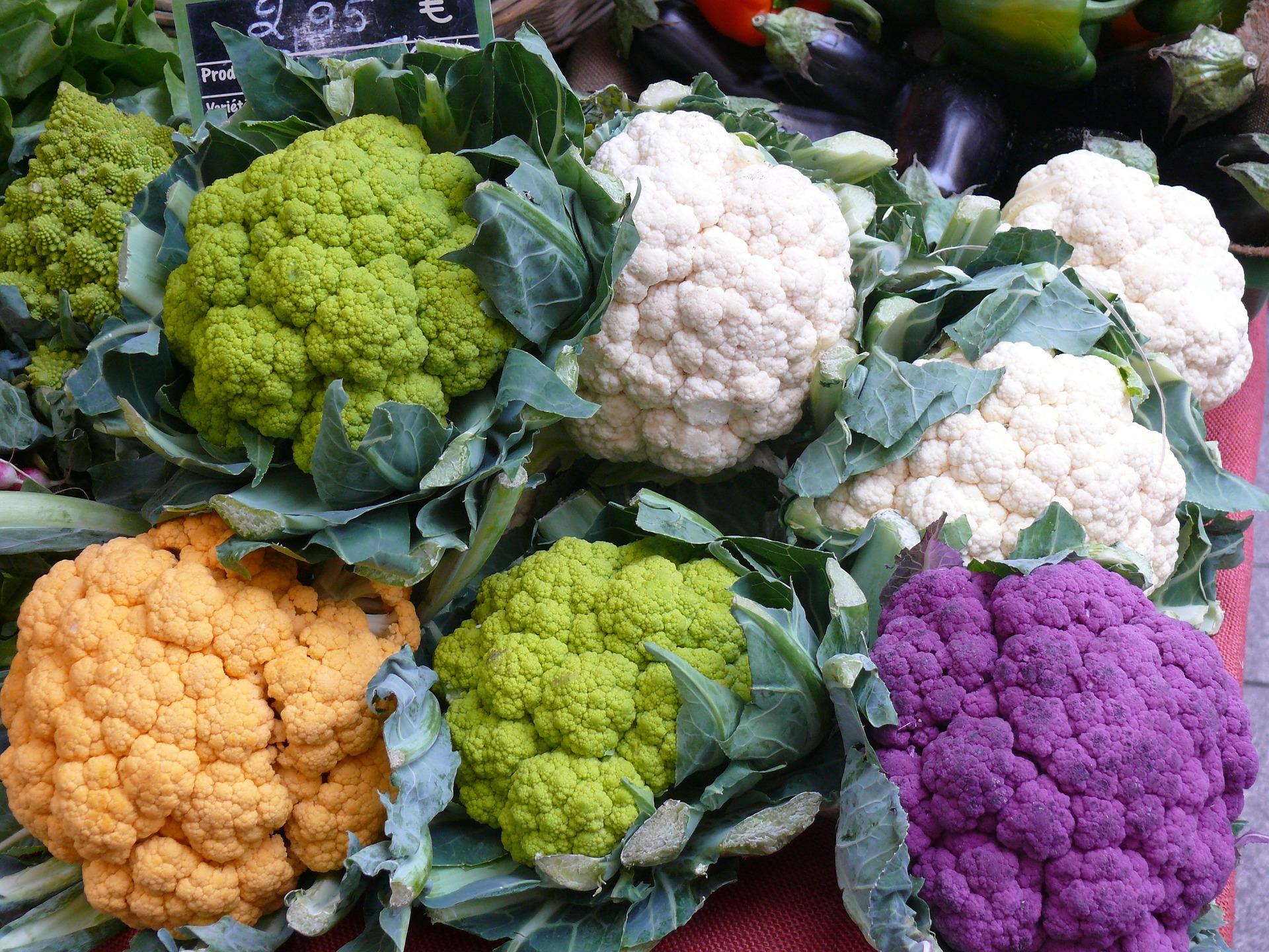 kolorowe kalafiory