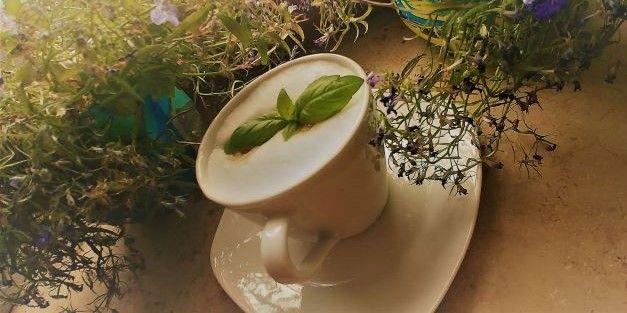 kawa z bazylią